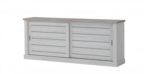 Sideboard Eva 221cm 2 Schiebetüren - Eiche