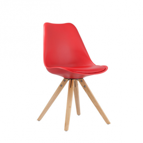 Satz von 2 Stühlen Lady - rot
