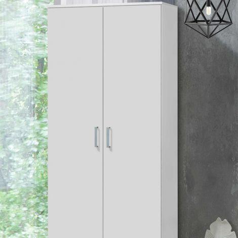 Darcis 80 cm Kleiderschrank mit 2 Türen, 52cm tief - weiß