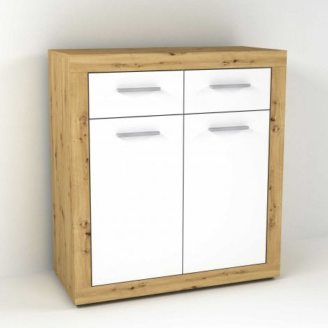 TURBO 1 - Kommode mit 2 Türen u. 2 SK - Artisan Oak Nb/high_gloss