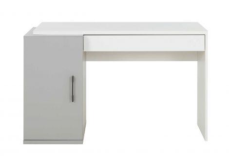 Schreibtisch Hugo 126cm mit 1 Tür und 1 Schublade - grau