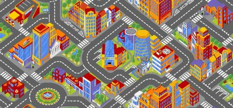 Teppich Big City - mittelgroß