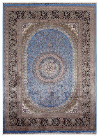 Teppich Qoum Shah 5 Blau 230x160