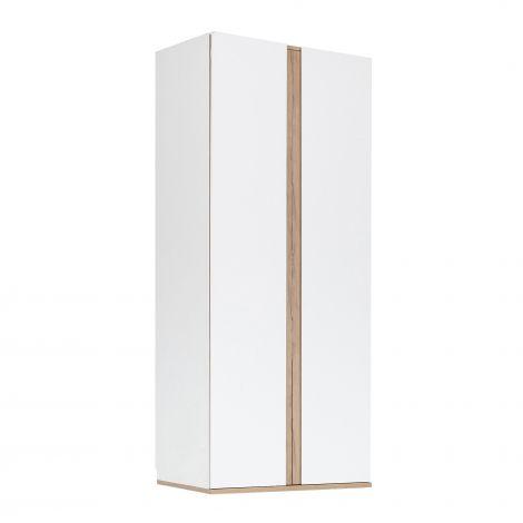 NESTOR - Dressing 2 portes battantes Blanc