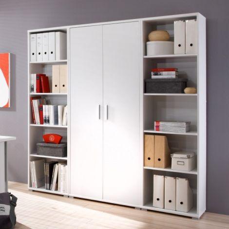 Olaph hohes Bücherregal - weiß