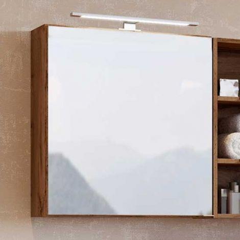 Spiegelschrank Dasa 60cm mit 1 Tür - Eiche wotan