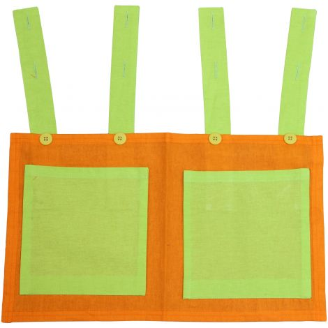 Betttasche grün/orange