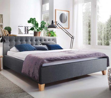 Gestoffeerd bed Lucca - 180x200 cm - Grijs