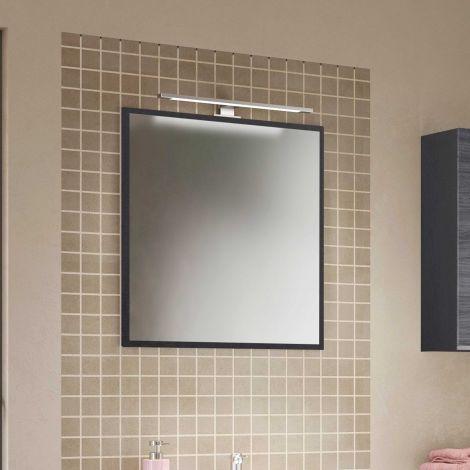Spiegel Lotuk 60cm mit Licht - Eiche grau