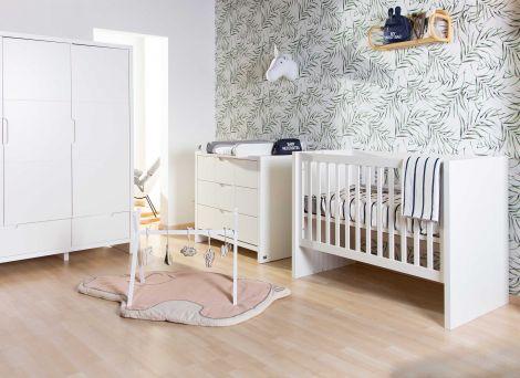 Quadro weißes Kinderbett 60x120 / 90x200