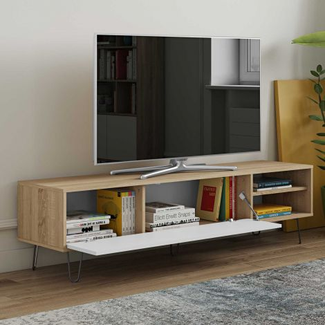 TV-Schrank Jiro 165cm - Eiche/Weiß