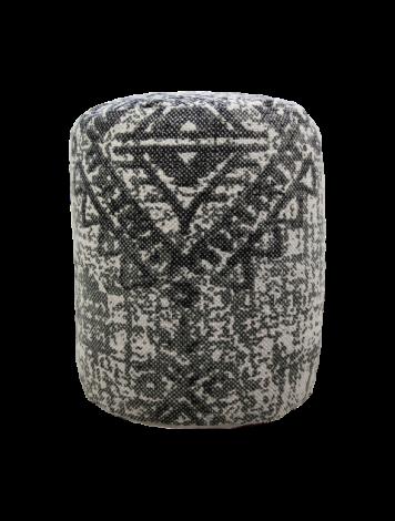 Hocker - ø35 cm - Baumwolle - grau
