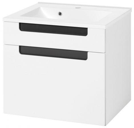 Siena 60cm Waschtischunterschrank - weiß/anthrazit