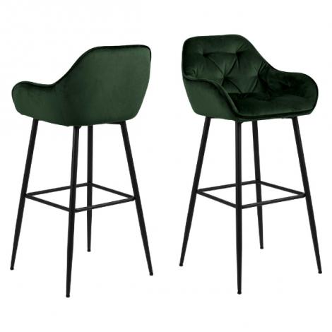 2er Set Barhocker Bridget - grün/schwarz