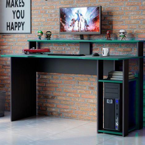 Gaming-Schreibtisch Marquis 136cm - schwarz/grün