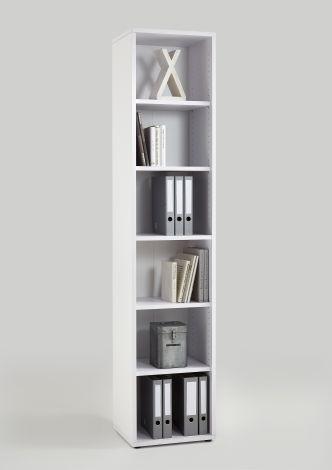 Bücherschrank Gabi - 6 Fächer schmal