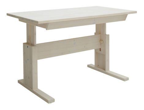 Schreibtisch mit Schublade 120 cm - white wash