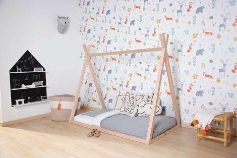 Tipi Babybett Natur Rahmen 70X140