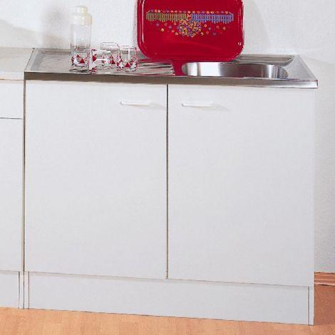 Unterschrank Bingo 100 cm mit Waschbecken - weiß