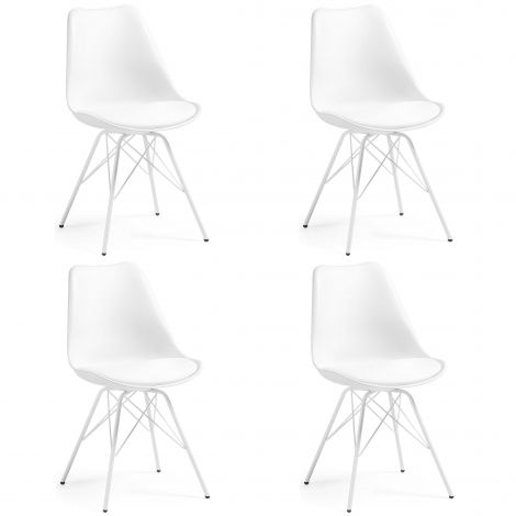 Stuhl Ralf Metall/Kunststoff - weiß