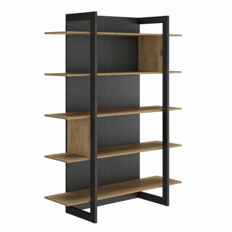 RANGEMENT JOUR - RUSSEL bookcase Helvezia oak