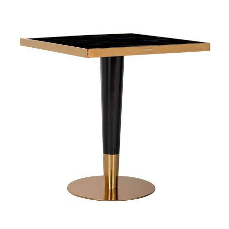 Bartable Osker 70x70 - gold/schwarz