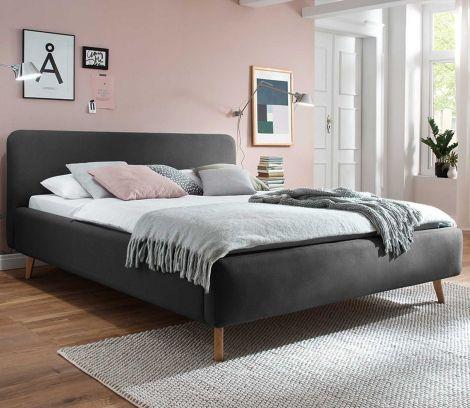 Gestoffeerd bed Mattis - 160x200 cm - antraciet