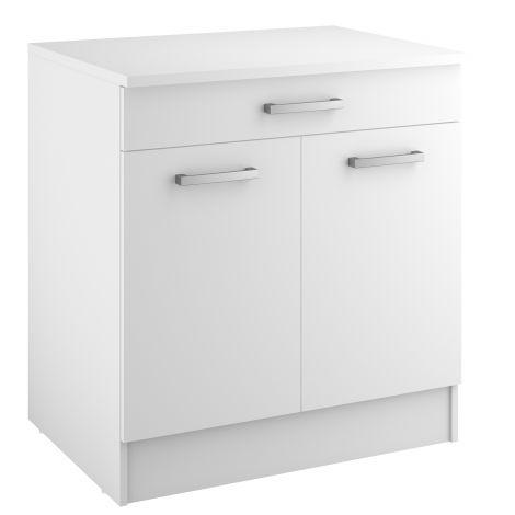 Unterschrank Uno 80x60 cm mit Schublade und 2 Türen