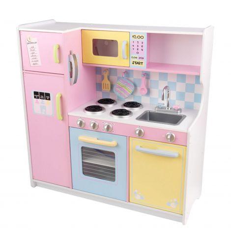 Große Küche pastellfarben