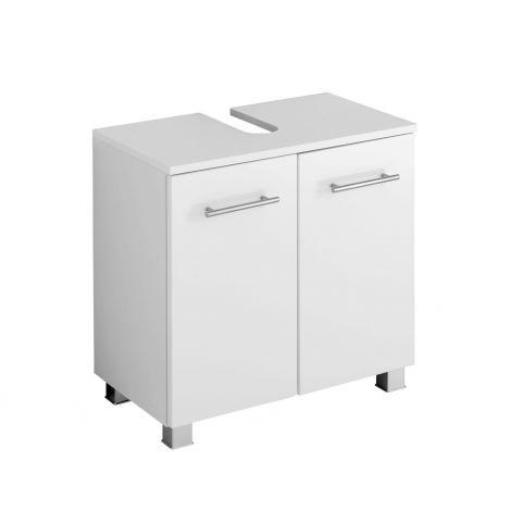 Waschbeckenschrank Pollet 60cm 2 Türen - weiß