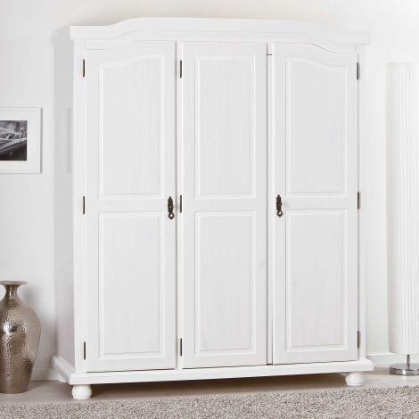 Kleiderschrank Bastian mit 3 Türen - weiß