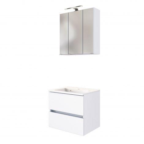 Waschbeckenmöbel-Set Brama 60cm - weiß