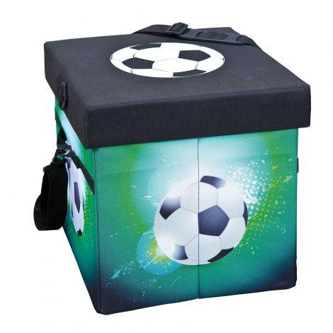 Aufbewahrungsbox Fußball - grün/schwarz
