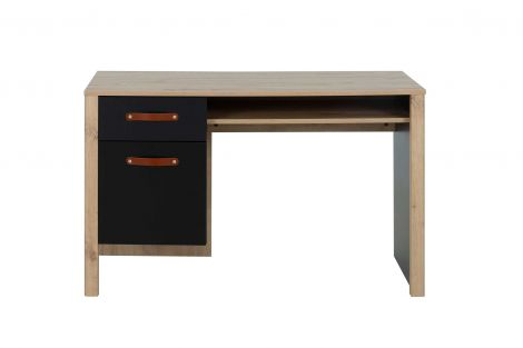 ARTHUS - Bureau 1 tiroir 1 porte Chêne artisan