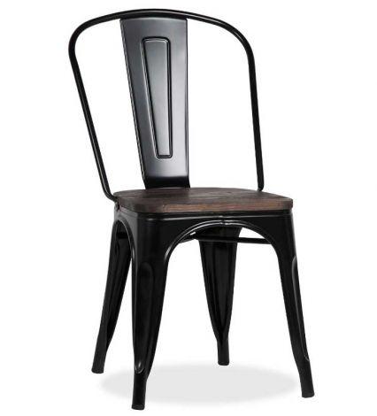 Set mit 4 Stühlen Victoria - schwarz