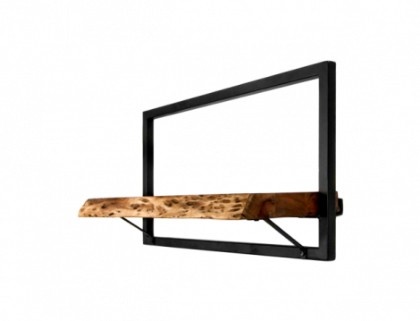 Wandregal Levels Live Edge 56x32cm Akazie/Eisen