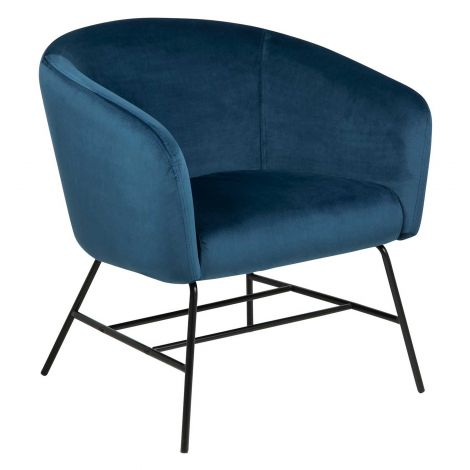 Ramsey resting chair - matt black, navy blue