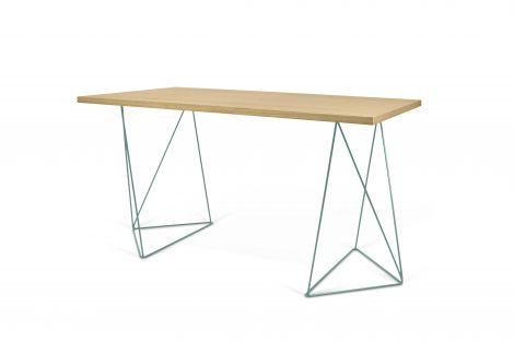 Desk Flo - Wildeiche / grüne Beine