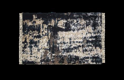 Teppich - Baumwolle - 180x120 cm - grau / beige / blau / blau / gold
