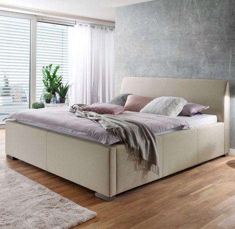 Gestoffeerd bed La Finca - 160x200 cm - beige