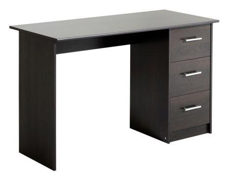 Schreibtisch mit Schubladen Infinity - kaffeefarben
