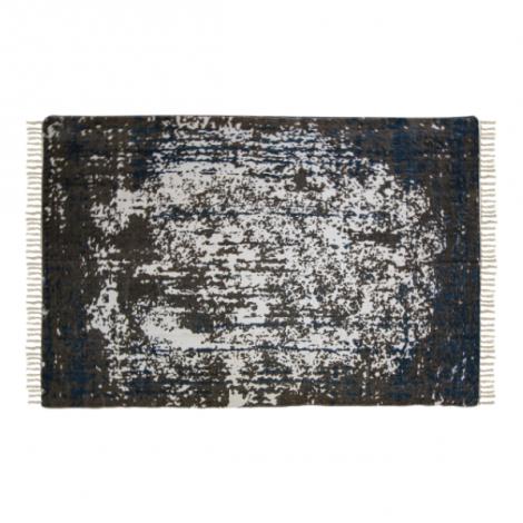 Teppich Vinta 230x160 Baumwolle teal/beige