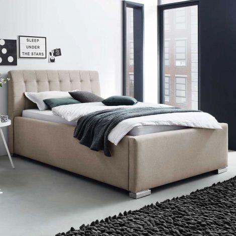 Gestoffeerd bed La Finca BK - 120x200 cm - beige