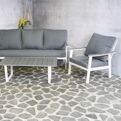 Loungeset Durkin - weiß