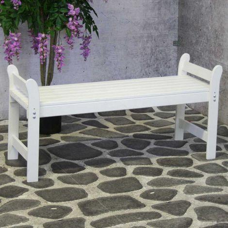 Gartenbank Walt - weiß