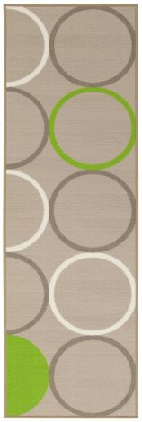 Teppich La Cucina Opty 200x57 Nylon - Beige/Grün