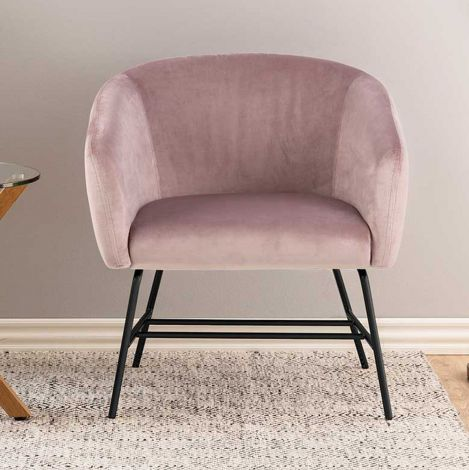 Ramsey resting chair - matt black, dusty rose