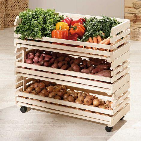 Großes Obst- und Gemüseregal - Kiefer