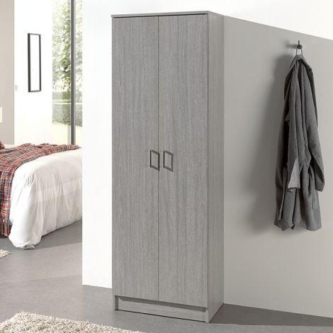 Lagerschrank Ray 60cm mit 2 Türen und 4 Einlegeböden - Eiche grau