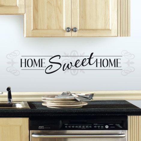 Wandaufkleber Home Sweet Home Sweet Home